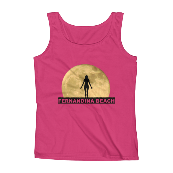 Full Moon Yoga Missy Fit Tank-Top Hot-Pink
