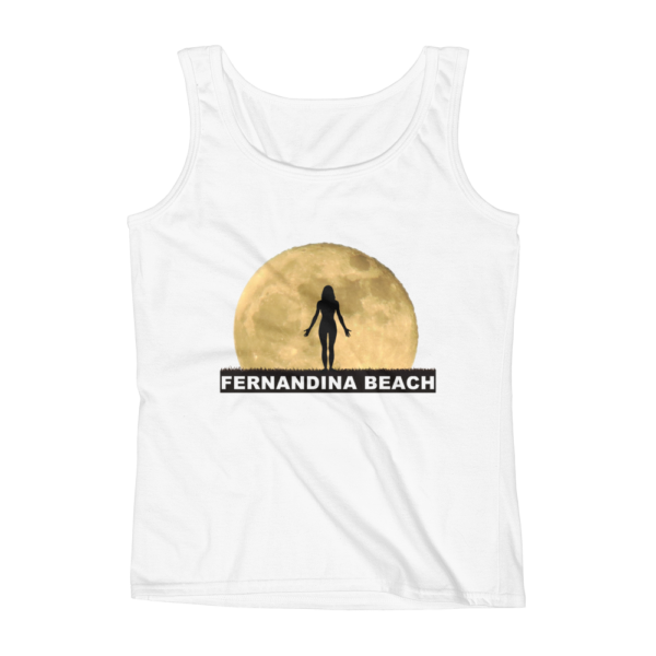 Full Moon Yoga Missy Fit Tank-Top White