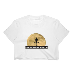 Full Moon Yoga Short Sleeve Cropped T-Shirt White