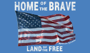 Home of the Brave Land of the Free Blog Graphic
