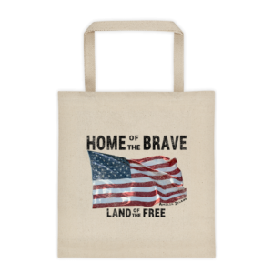 Home of the Brave Land of the Free Natural Tote