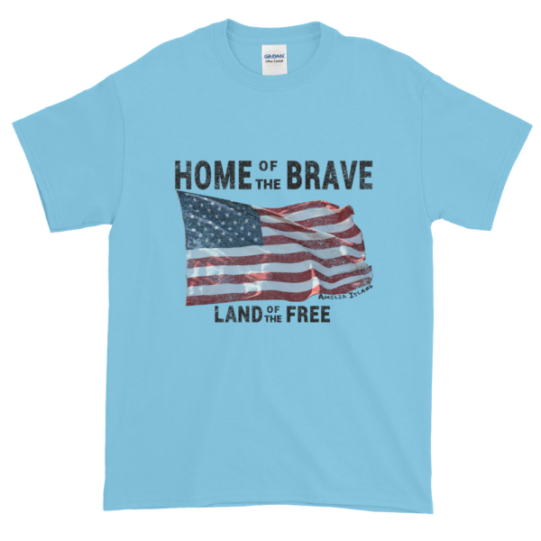 Home of the Brave Ultra Cotton T-Shirt Sky