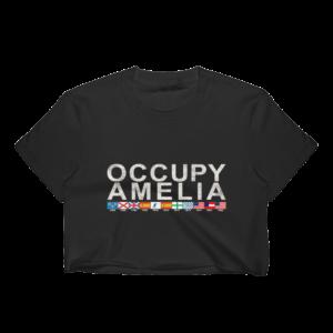 Occupy Amelia Cropped T-Shirt Black