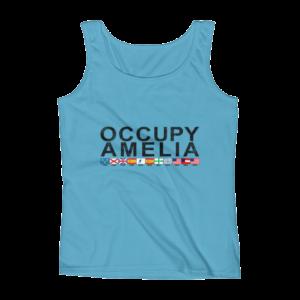 Occupy Amelia Ladies Missy Fit Tank Top Caribbean-Blue