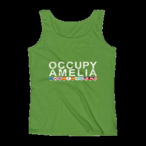 Occupy Amelia Ladies Missy Fit Tank Top Green-Apple