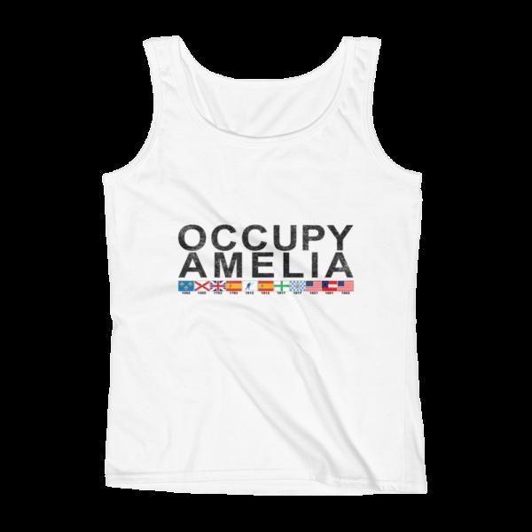 Occupy Amelia Ladies Missy Fit Tank Top White