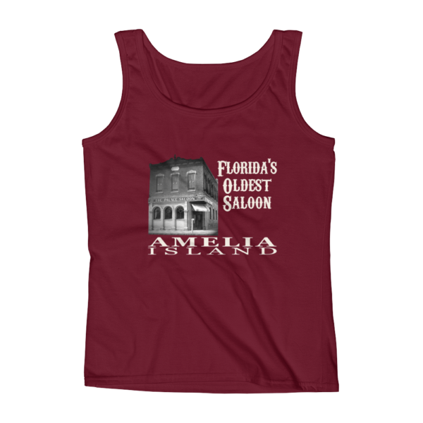 Oldest Saloon Missy Fit Tank-Top Independence-Red