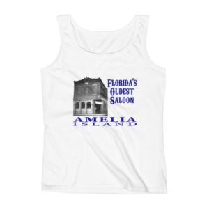 Oldest Saloon Missy Fit Tank-Top White