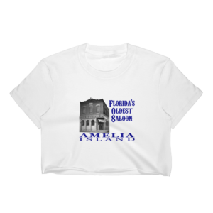 Oldest Saloon Short Sleeve Cropped T-Shirt White