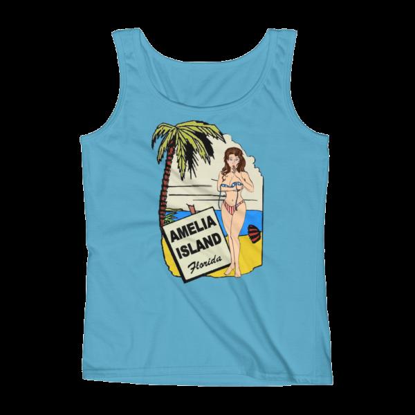 Oops My Bathing Suit Missy Fit Tank-Top Caribbean-Blue