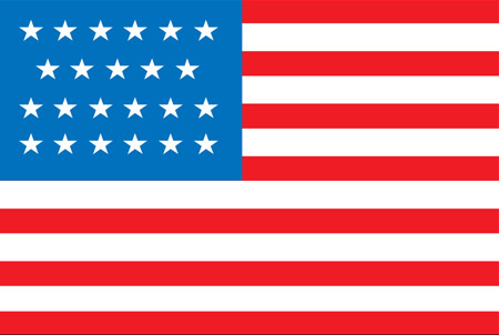 United States 23-Star Flag 1820