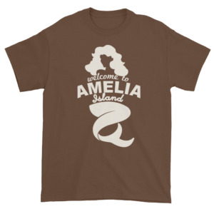 Welcome to Amelia Mermaid Ultra Cotton-T-Shirt Chestnut