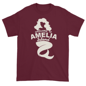 Welcome to Amelia Mermaid Ultra Cotton-T-Shirt Maroon