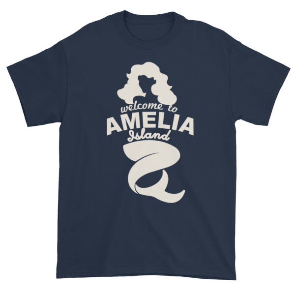 Welcome to Amelia Mermaid Ultra Cotton-T-Shirt Navy