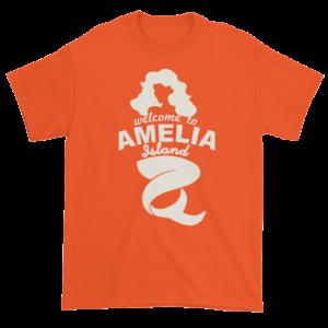 Welcome to Amelia Mermaid Ultra Cotton-T-Shirt Orange