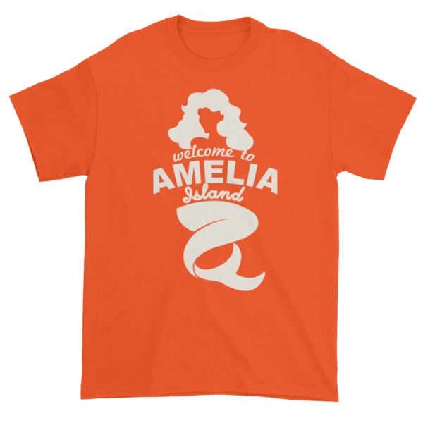Welcome to Amelia Mermaid Ultra Cotton-T-Shirt Orange