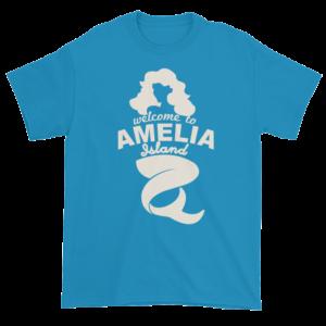 Welcome to Amelia Mermaid Ultra Cotton-T-Shirt Sapphire