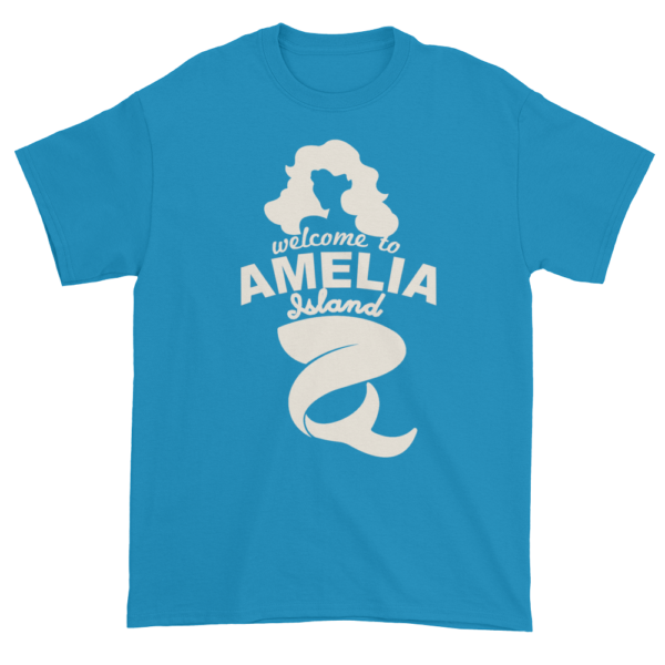 Welcome to Amelia Mermaid Ultra Cotton-T-Shirt Sapphire