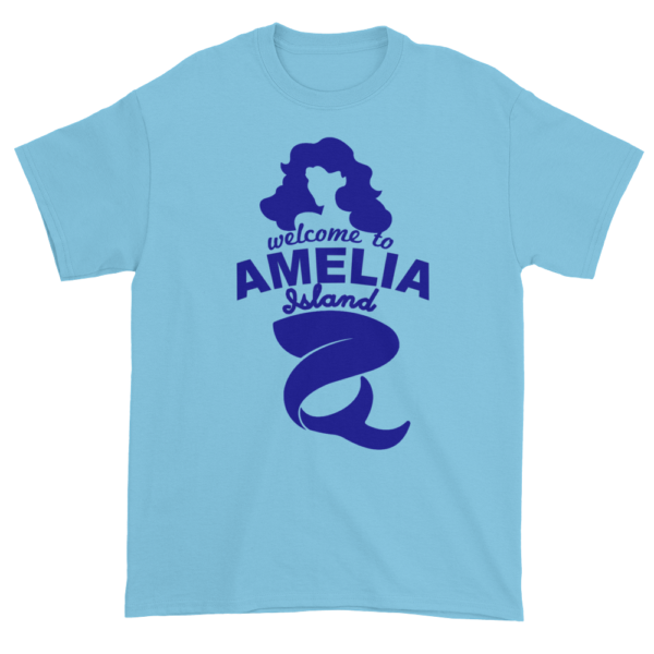 Welcome to Amelia Mermaid Ultra Cotton-T-Shirt Sky