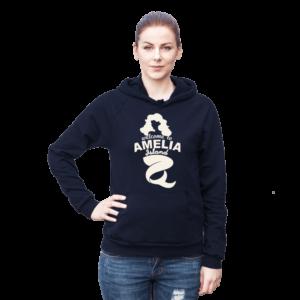 Welome to Amelia Mermaid California Fleece Hoodie Female Navy
