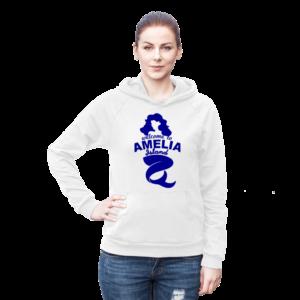 Welome to Amelia Mermaid California Fleece Hoodie Female White