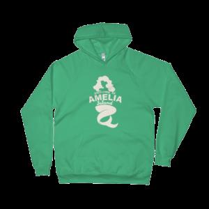 Welome to Amelia Mermaid California Fleece Hoodie Kelly-Green