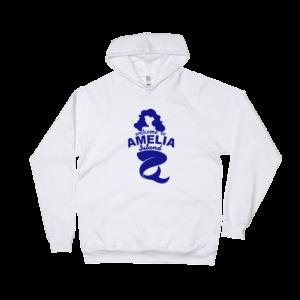Welome to Amelia Mermaid California Fleece Hoodie White