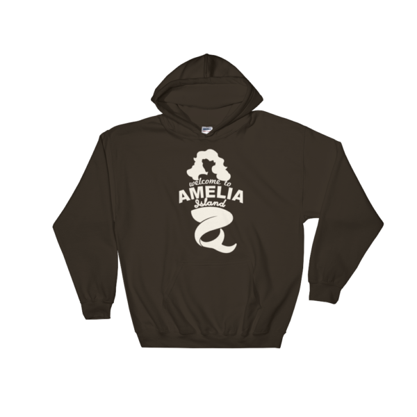 Welome to Amelia Mermaid Hoodie Dark-Chocolate