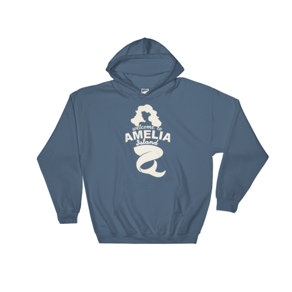 Welome to Amelia Mermaid Hoodie Indigo-Blue
