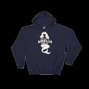 Welome to Amelia Mermaid Hoodie Navy