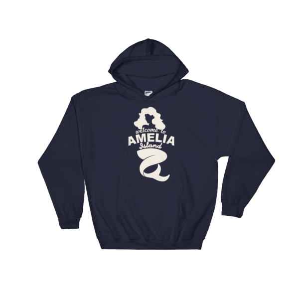 Welome to Amelia Mermaid Hoodie Navy
