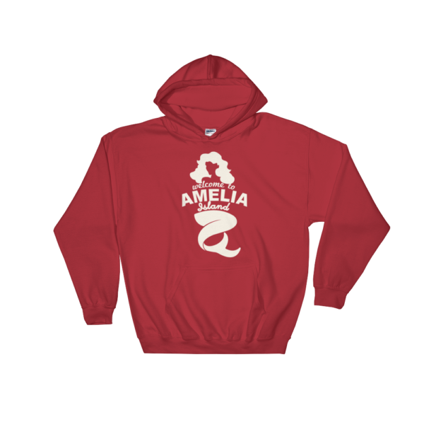 Welome to Amelia Mermaid Hoodie Red