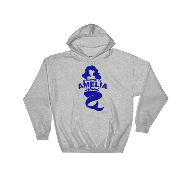 Welome to Amelia Mermaid Hoodie Sport-Grey