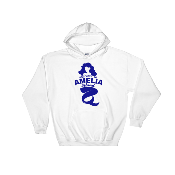 Welome to Amelia Mermaid Hoodie White