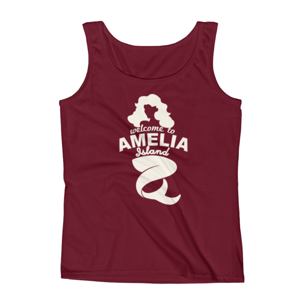 Welome to Amelia Mermaid Missy Fit Tank-Top Independence-Red