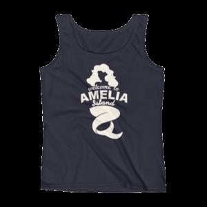 Welome to Amelia Mermaid Missy Fit Tank-Top Navy