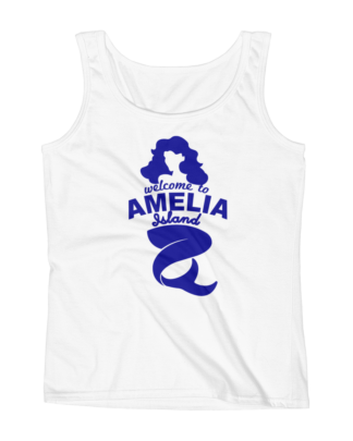 Welome to Amelia Mermaid Missy Fit Tank-Top White