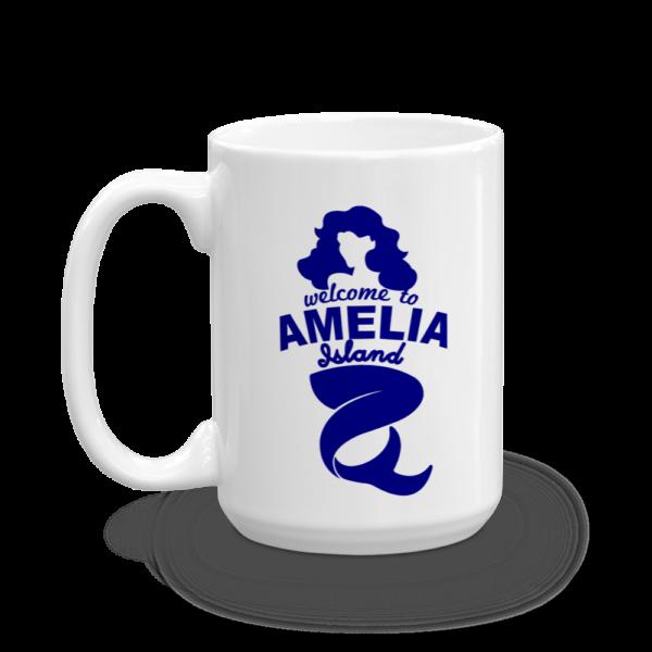 Welome to Amelia Mermaid Mug Handle-on-Left 15oz