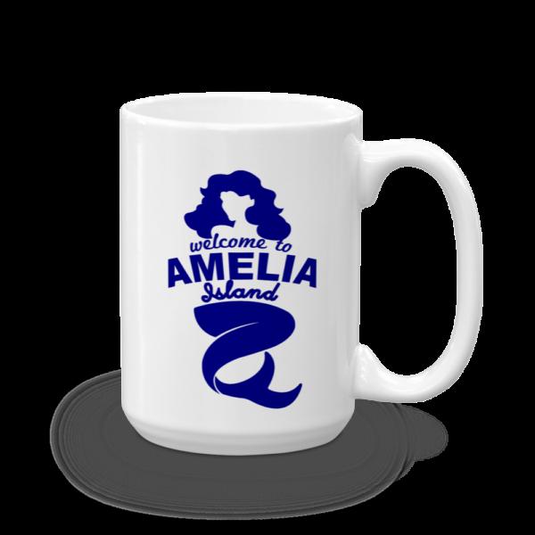 Welome to Amelia Mermaid Mug Handle-on-Right 15oz