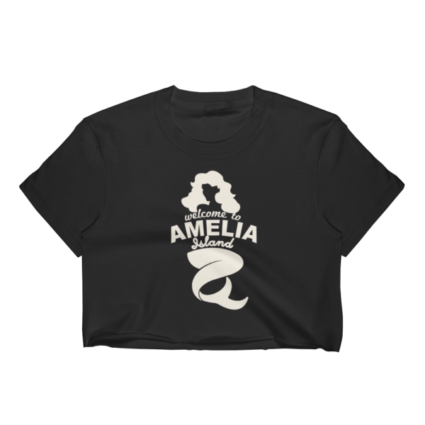 Welome to Amelia Mermaid Short Sleeve Cropped T-Shirt Black